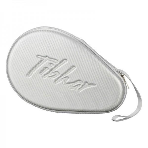 TIBHAR bat case CARBON ROUND silver